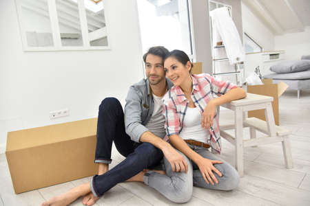 moving in: Young couple moving into new home