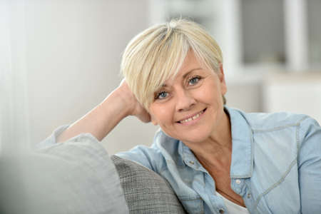 wellbeing: Closeup of attractive senior woman