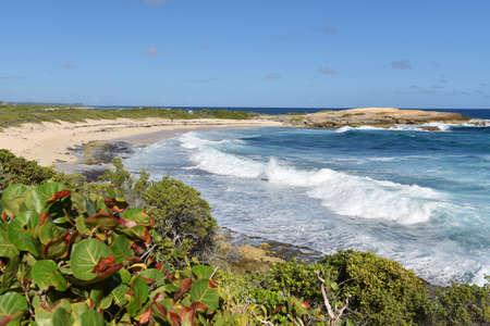caribe: La pointe des chateaux, guadeloupe Stock Photo