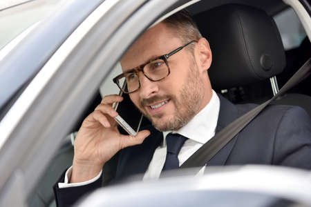 phonecall: Taxi driver receiving phonecall from client