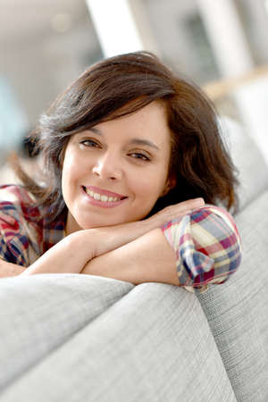 brunette woman: Portrait of middle-aged brunette woman