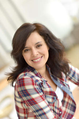 middleaged: Portrait of middle-aged brunette woman