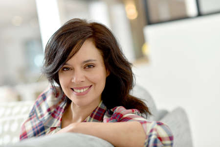 Portrait of middle-aged brunette woman Stock Photo