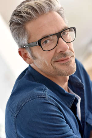 45 years old: Portrait of handsome mature man with eyeglasses