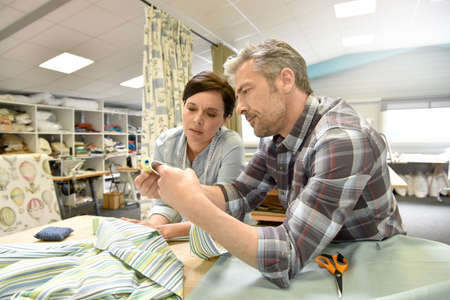 upholsterer: People working in tapestry workshop