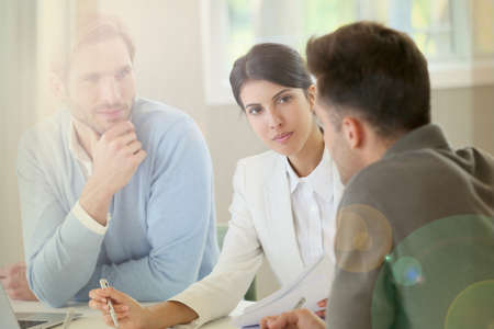 business people meeting: Business people meeting for budget presentation