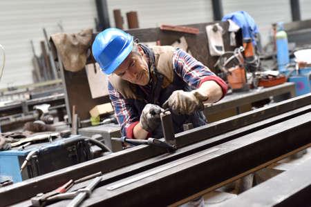 steelwork: Man working in steelwork factory