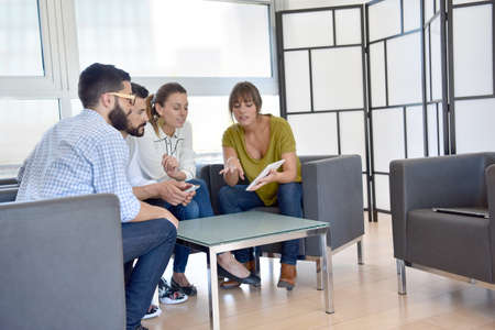 business lounge: Business people meeting in lounge room