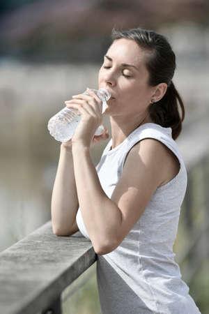 jogger: Jogger woman relaxing after exercising