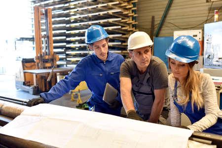 apprenticeship: Apprenticeship in metallurgy workshop