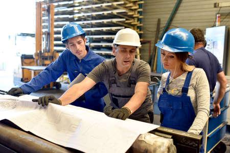 metallurgy: Apprenticeship in metallurgy workshop