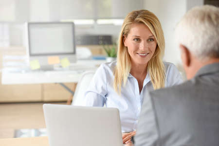 human resources manager: Human resources manager receiving candidate for job Stock Photo