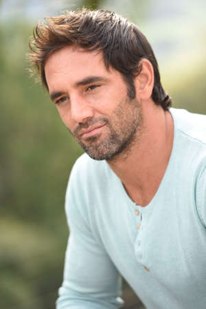 handsome old man: Portrait of latin handsome guy Stock Photo