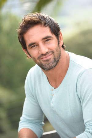 Portrait of latin handsome guy Stock Photo