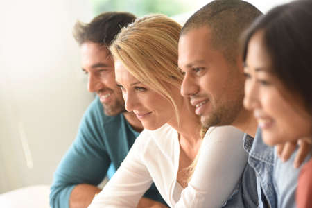 group meeting: Group of ethnic people attending a meeting Stock Photo