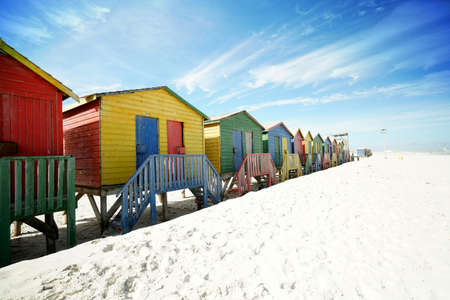 south africa: Beach huts at Muizenberg, South Africa