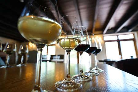 南アフリカ ワインのクローズ アップ 写真素材