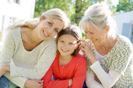 Portrait of three women generation