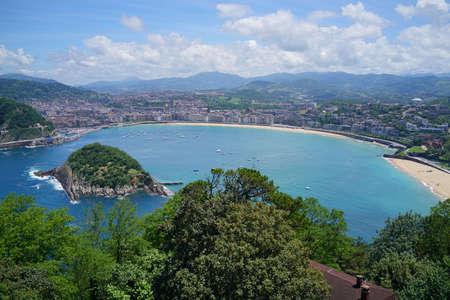 La Concha, San Sebastian Bay from Mount Igueldo Imagens