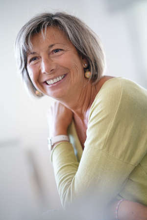 Portrait of cheerful senior woman