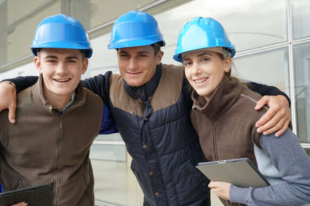 Portrait of young people in construction industry training Reklamní fotografie