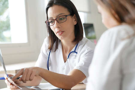Doctor having appointment with patient  Stock Photo