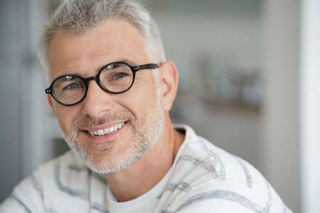Middle-aged guy with trendy eyeglasses Reklamní fotografie
