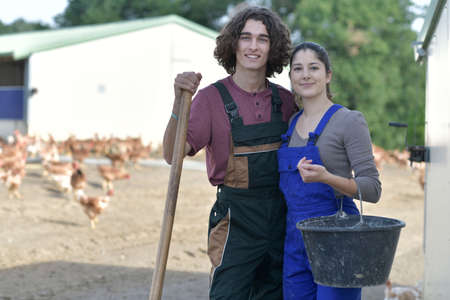 young people in farm spending green vacation