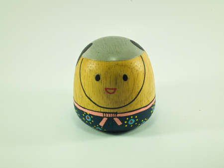 this is a wood paperweight It Stock Photo