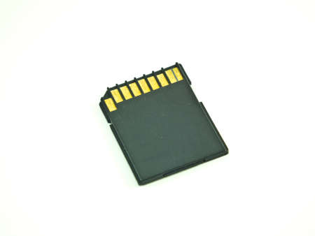 This is a Secure Digital Card or someone call name  SD Card Stock Photo