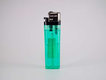 This is a green Lighters, It Stock Photo
