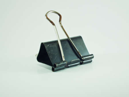This is a Old Paper Clip have a black colour Stock Photo