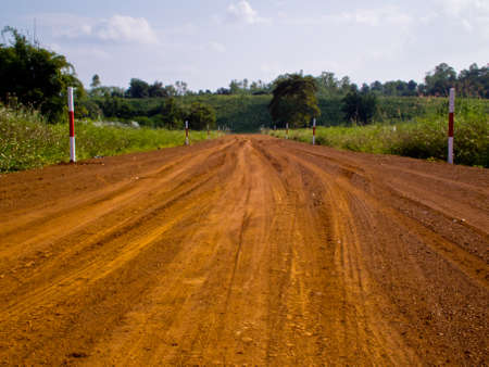 This is road to farm in daylight Stock Photo - 11270299