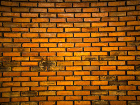 Its a old wall make from brick ,its  have a orange colour Stock Photo