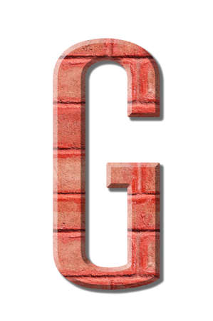 brick style Letter alphabet on White background 写真素材