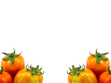 This is a tomatoes  on white background