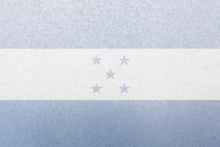 bandera honduras: s�mbolo de la bandera de Honduras en la placa de acero Foto de archivo