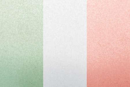 steel plate: Italy flag symbol on steel plate Stock Photo