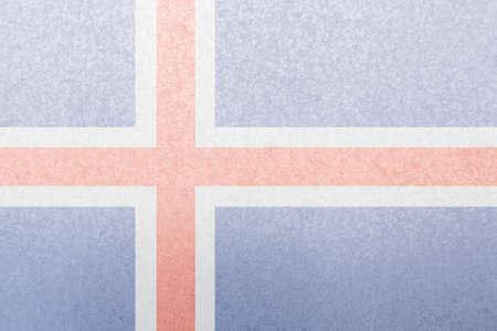 iceland flag: Iceland flag symbol on steel plate