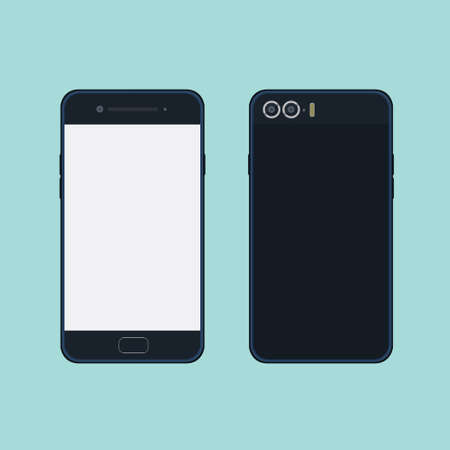 doublet: Mobile Phone illustration image front side and back side Stock Photo