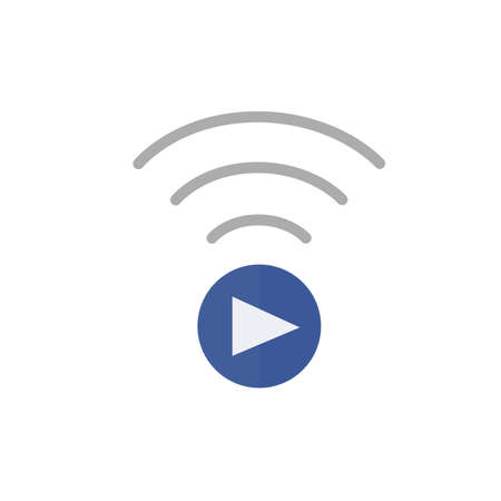 streaming: Live Streaming Icon on white background
