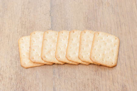 biscuits stacking on wood table