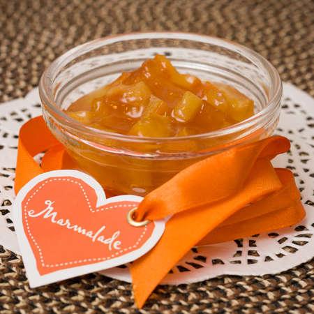 marmelade: Home-made orange marmelade Stock Photo