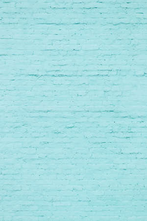 Closeup of turquoise brick wall texture, background or surface