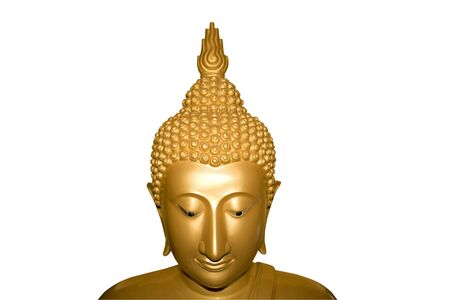 Face of Buddha isolated. Clipping path photo
