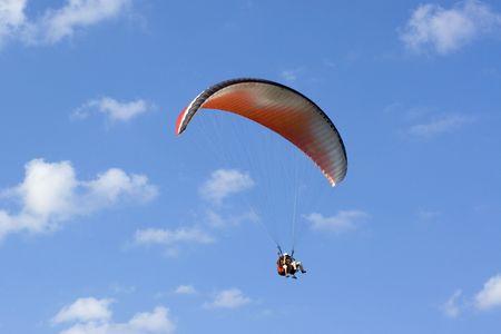 parapente: Tandem vliegen in de lucht