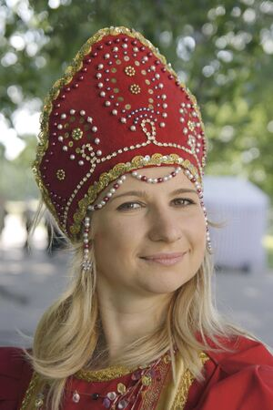 The girl in national russian clothes Stock Photo - 2175260
