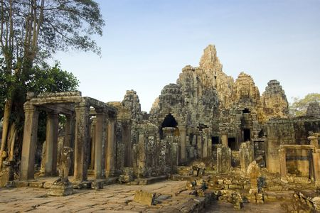 Bayon temple. Near Siem Riep. Cambodia Stock Photo - 2902277