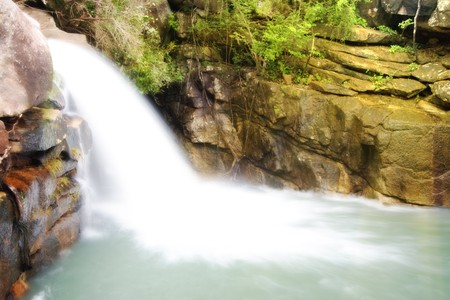 Waterfall pool in rain forest Stock Photo - 3958894