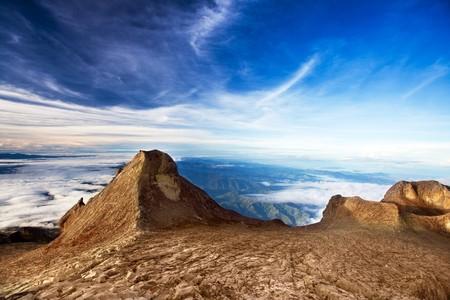 sabah: St. Johns peak at Mount Kinabalu. Sabah. Borneo. Malaysia